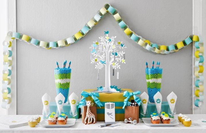 décoration de table shower de bébé #2